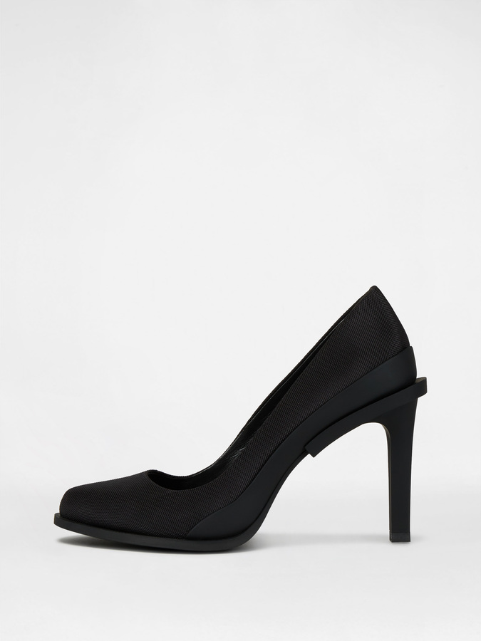 DKNY Prim Tech Nylon Pump With Rubber Heel