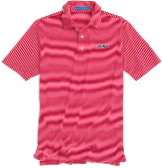 Southern Tide Gameday Stripe Polo - University of Mississippi
