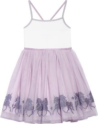 Zunie Glittery Unicorn Ballerina Dress