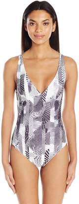MinkPink Women's Day and Night Mono Collage One Piece Swimsuit