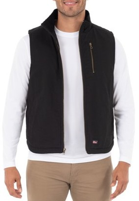 Dickies Genuine Men's Sherpa Lined Canvas Vest with Zip Utility Pocket