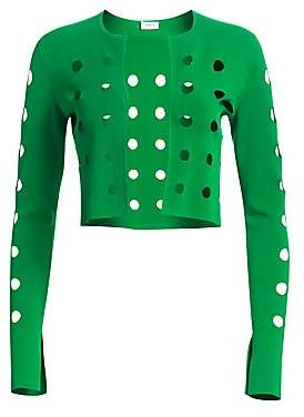 Akris Punto Women's Laser Cut Dot Cardigan
