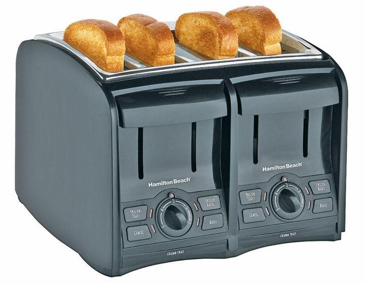 Hamilton Beach Smart Toast 4-Slice Cool Touch Toaster