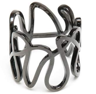 Repossi 18kt black gold white noise ring