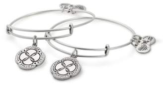 Alex and Ani (アレックス アンド アニ) - Alex and Ani Infinite Connection Set of 2 Adjustable Wire Bangles
