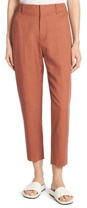 Vince Sateen Cropped Carrot Pants $295 thestylecure.com
