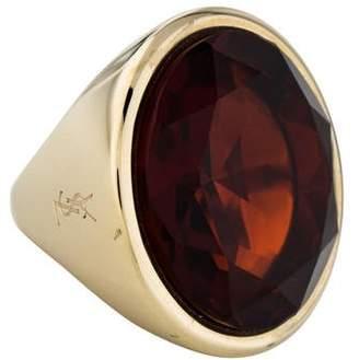 Saint Laurent Crystal Cocktail Ring