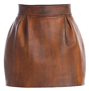 Versace Women's Nappa Leather Mini Skirt