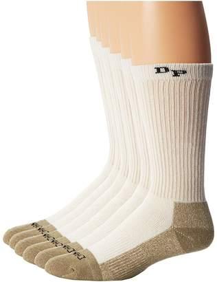 Dan Post Work Outdoor Socks Mid Calf Mediumweight Steel Toe 6 pack Men's Crew Cut Socks Shoes