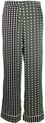 Asceno dotted silk pajama bottoms