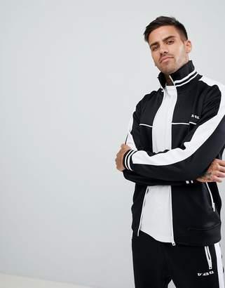 Diesel two-piece S-Roots side stripe track jacket in black