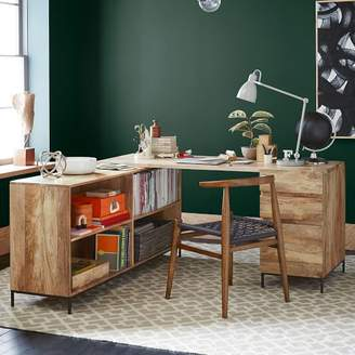 west elm Industrial Modular Desk Set – Box File + Bookcase