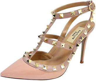5c54a7a2471 Kaitlyn Pan Pointed Toe Studded Strappy Slingback High Heel Leather Pumps  Stilettos Sandals (5.5US