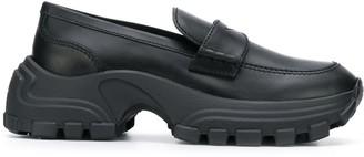 Miu Miu chunky sole penny loafers