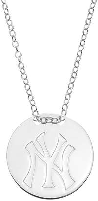 New York Yankees Kohl's Sterling Silver Disc Pendant Necklace