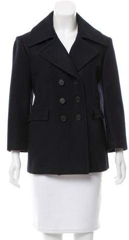 Celine Céline Wool Double-Breasted Coat