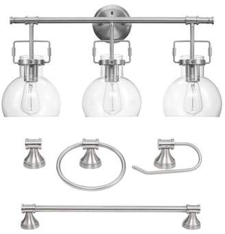 Globe Electric Company Globe Electric Walker 5-Piece Brushed Nickel All-In-One Bathroom Set, 51299