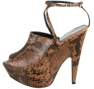 Narciso Rodriguez Snakeskin Mia Platform Sandals