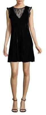 Dex Sleeveless Velvet Lace Dress