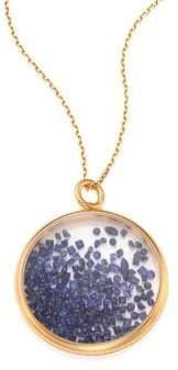 Aurelie Bidermann Blue Sapphire& 18K Yellow Gold Medallion