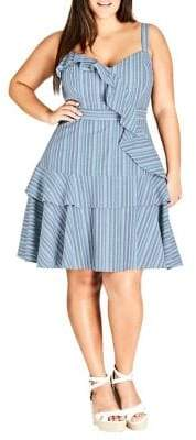 City Chic Plus Ruffle Summer Dress