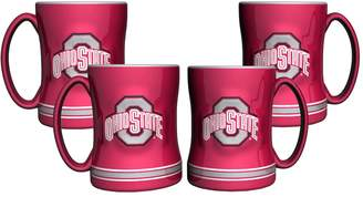 NCAA Kohl's Ohio State Buckeyes 4-pk. Sculpted Relief Mug