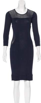 Marchesa Voyage Knit Paneled Dress