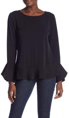 Laundry by Shelli Segal Ruffle Trim Knit Top