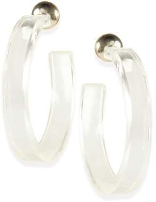 clear Taolei Statement 50mm Hoop Earrings