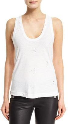 Zadig & Voltaire Deep Holes Jersey Tank, Blanc $70 thestylecure.com