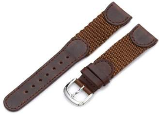 Victorinox Hadley-Roma Men's MSM866RB 200 20-mm Brown 'Swiss-Army' Style Nylon and Leather Watch Strap