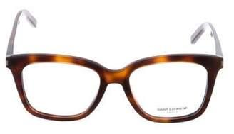 Saint Laurent Square Tortoise Eyeglasses