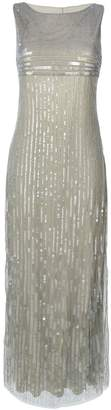 Alberta Ferretti sequined empire evening dress