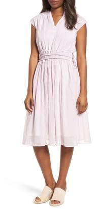 Caslon Drawstring Waist Dress (Petite)