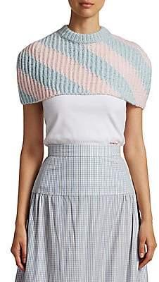 Calvin Klein Women's Cropped Wool-Blend Sweater Cape