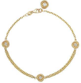 Bloomingdale's Diamond Love Knot Bracelet in 14K Yellow Gold, .25 ct. t.w. - 100% Exclusive