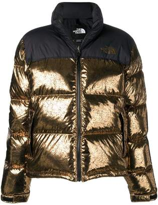 The North Face metallic puffer jacket