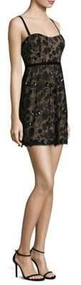 For Love & Lemons Beatrice Floral Overlay Mini Dress