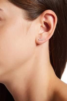 Candela 14K Yellow Gold CZ Climber Stud Earrings