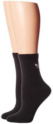 adidas Originals Trefoil Ankle Sock 2-Pack Women's Low Cut Socks Shoes