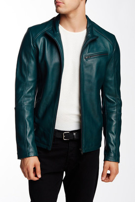 7 Diamonds Norwell Genuine Leather Jacket $295 thestylecure.com
