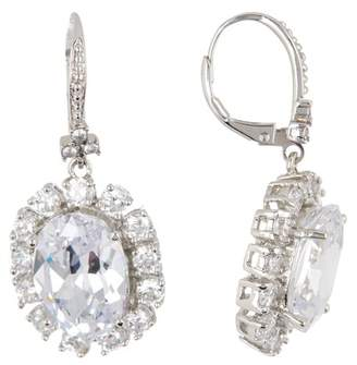 Marchesa CZ Oval Drop Earrings