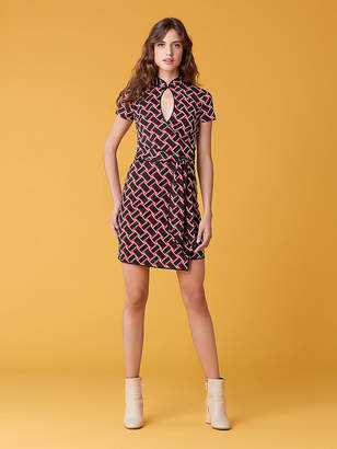 Diane von Furstenberg Jovie Keyhole Silk Jersey Dress