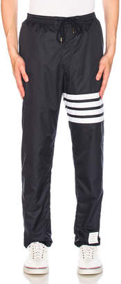 Thom Browne Ripstop Zip Up Pants with Cotton Eyelet Mesh