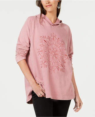 Style&Co. Style & Co Embroidered Pullover Hooded Sweatshirt
