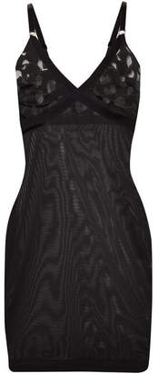 Wolford Amelia Forming Devoré-jersey And Tulle Chemise