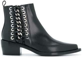 Alexander McQueen braided cuban boots