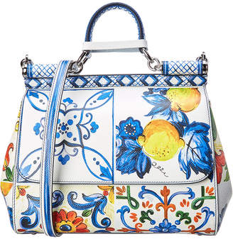 Dolce & Gabbana Medium Sicily Leather Satchel