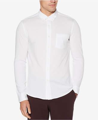 Perry Ellis Men's Pique-Knit Pocket Shirt
