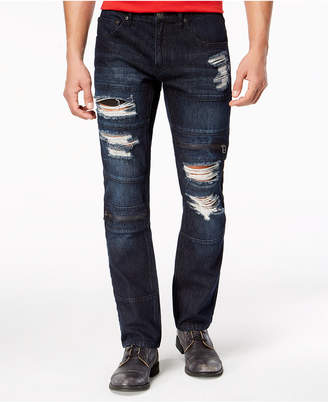 INC International Concepts I.N.C. Men's Slim-Straight Stretch Ripped Jeans, Created for Macy's
